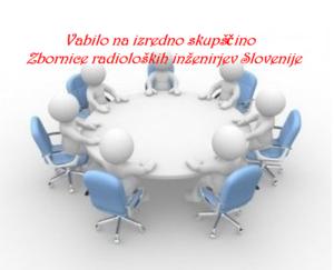 Vabilo na izredno skupščino Zbornice radioloških inženirjev Slovenije